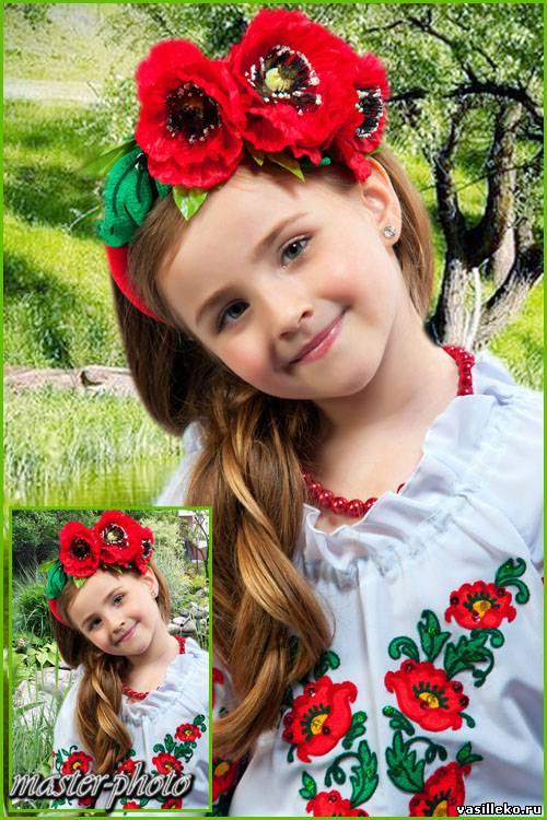 детские прически в украинском стиле фото